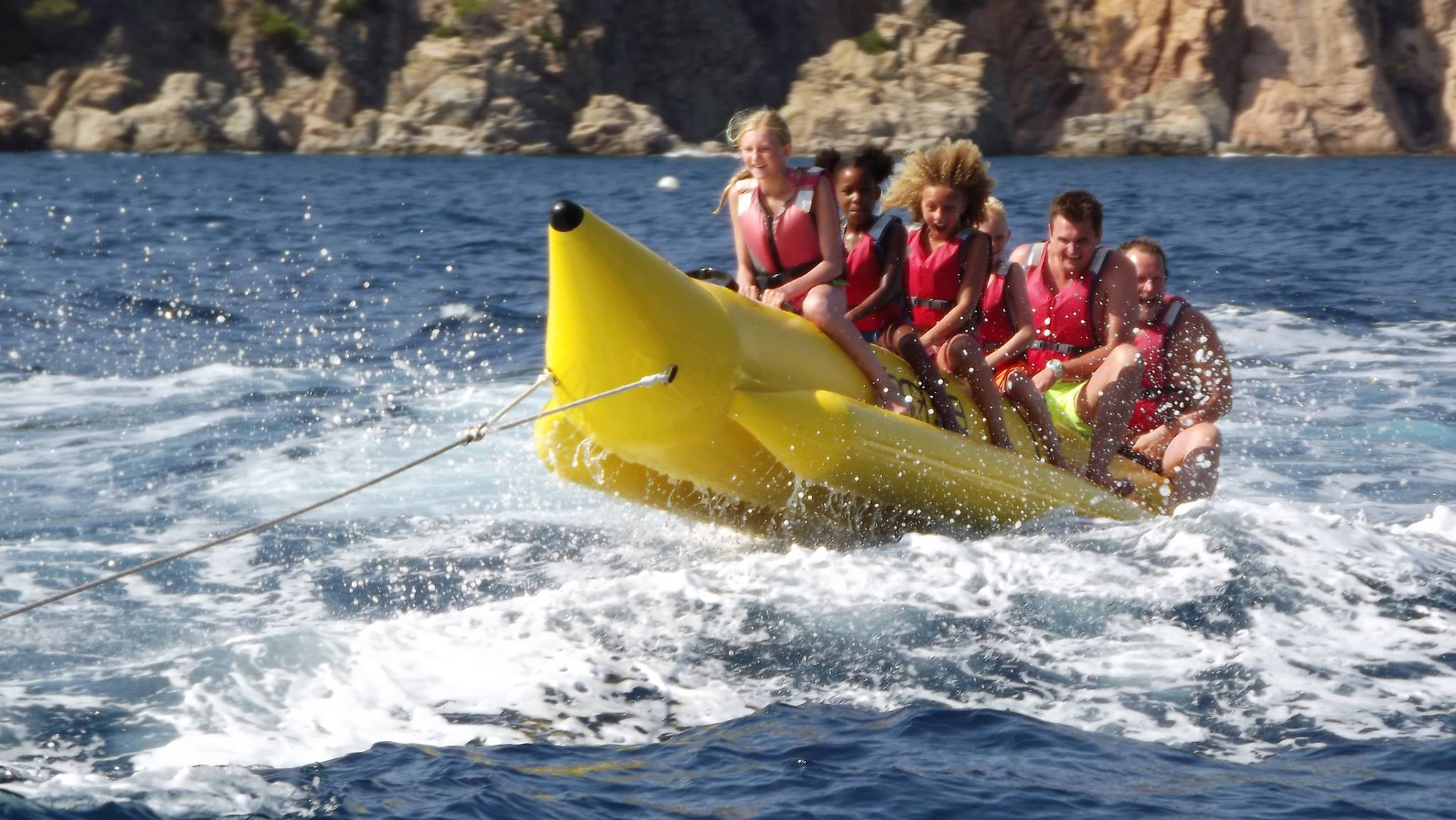 Banana Boat en Tossa de Mar
