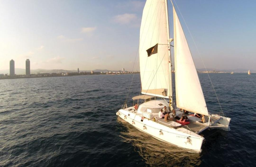 Private catamaran Barcelona