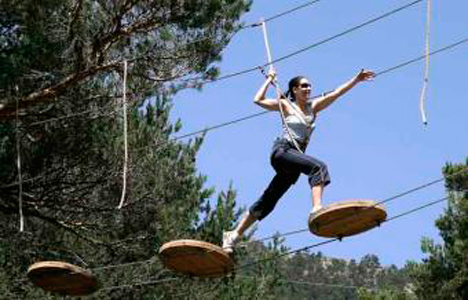 High zip wire Course - Lloret de mar