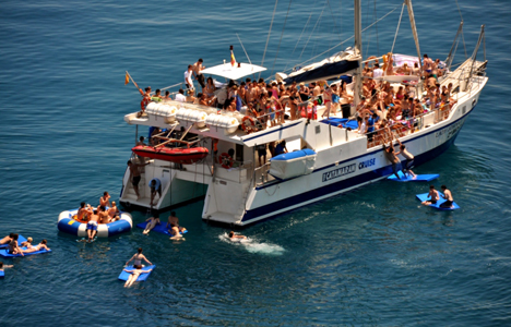 Catamaran for hen parties Tossa and Lloret de mar -Spain