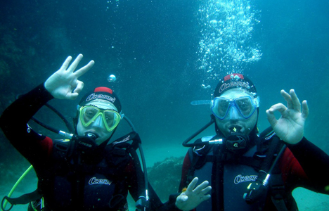 Bautizo de mar en Tossa