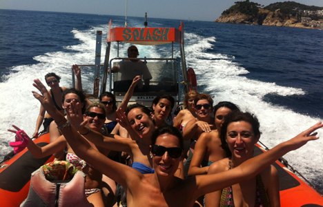 Smugglers rib ride excursion in Tossa de mar.