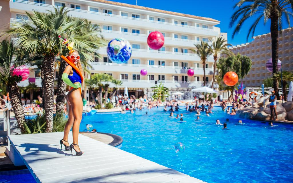 Pool party for stag and hen party Mallorca